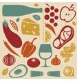 Delicious kitchen set vector image