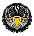 eagle head tattoo design vector image