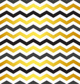 Seamless black and yellow chevron pattern vector image