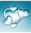 water drop heart two vector image