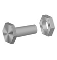 Screw-bolt and nut vector image