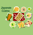 japanese cuisine dishes icon for asian food design vector image vector image