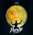 party dance poster background template with vector image