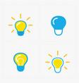 colorful light bulbs bulb icon set vector image
