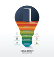 Infographic step on light bulb shape idea success vector image