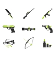 Weapon simply icons vector image