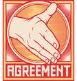 Agreement handshake design vector image