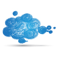Cloud draw vector image