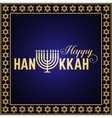 Happy Hanukkah greeting card Typography design vector image