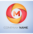 M letter colorful logo in the circle template for vector image