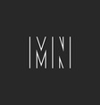 Pair letters MN logo monogram hipster couple m n vector image