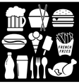set fast food isolated icon vector image