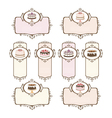 Set of labels with cakes vector image