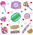candy various doodles vector image