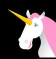 unicorn with pink mane head isolated fabulous vector image