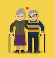 elderly couple in love vector image