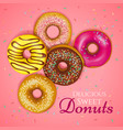 Realistic donuts vector image