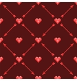 seamless pattern with polygonal hearts and arrows vector image vector image