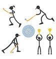 Field hockey vector image