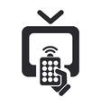 remote tv icon vector image vector image