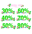 Sale discount set with percents vector image vector image