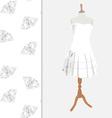 Dress with diamond pattern vector image