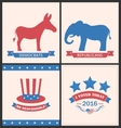 Retro Cards for Advertise of United States vector image
