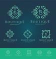 Boutique Floral Logo Set vector image
