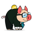 business money pig vector image