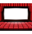 Cinema or theater scene with a curtain vector image