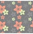 frangipani pattern grey vector image