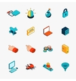 Isometric 3D internet security web icons vector image