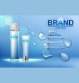 packing cosmetic after shave cream and shaving vector image