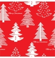 Seamless pattern of stylization firs on red vector image