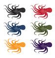 set of octopus vector image