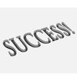 success text design vector image