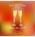 Wedding glasses with champagne over abstract vector image