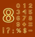Set of mathematical symbols vector image