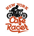 cafe racer 004 vector image vector image