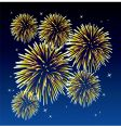 yellow fireworks vector image vector image