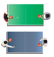 Game room Table tennis top view vector image