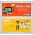 Programming and Graphic Design Concept Banners vector image