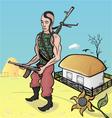 Ukrainian soldier vector image