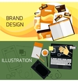 Brand and Web Design vector image