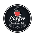delicious coffee drink menu icon vector image