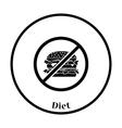 Icon of Prohibited hamburger vector image