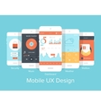 Mobile UX vector image