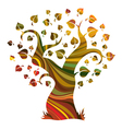 Multicolour abstract tree vector image