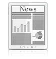 news in tablet pc vector image
