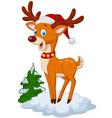 Sweet Christmas deer vector image